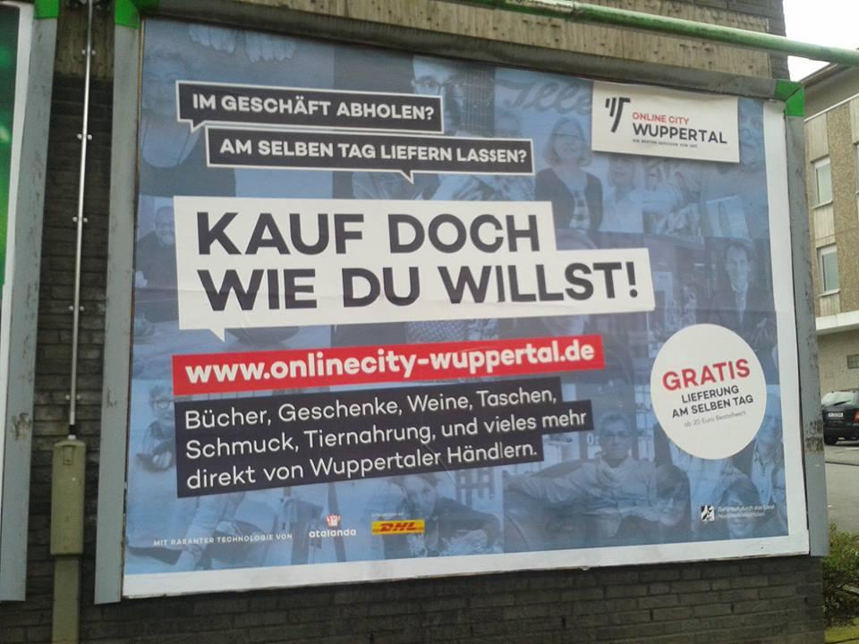 """Im November 2017 – nach 3 Jahren organischen Wachstums – schaltete die """"Online City Wuppertal"""" erstmals Werbung im Lokalradio und startete eine Plakatkampagne (Foto: Mike Neeb)"""