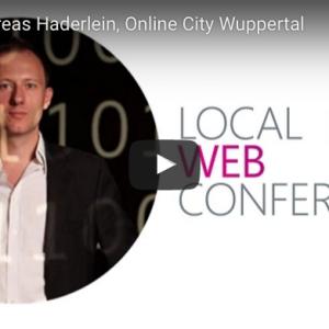 Vortragsmitschnitt von Andreas Haderlein zur Online City Wuppertal