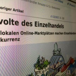 Das Computermagazin c't macht lokale Online-Marktplätze zum Thema