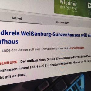 Medienbericht über Projektstart in Altmühlfranken