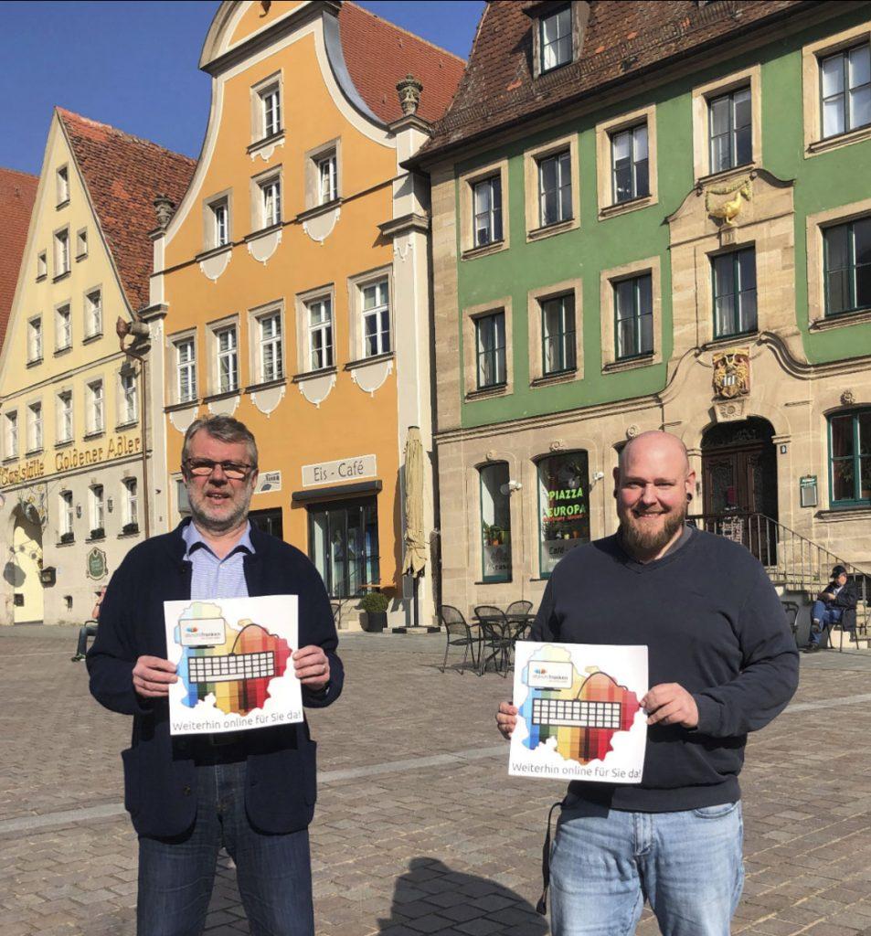 Der Bürgermeister der Stadt Weißenburg steht hinter der vom Stadtmarketingverein initiierten Aktion (© Stadtmarketing Weißenburg i. Bay. e.V.)