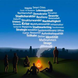 Stadtoptimisten versammeln sich am Lagerfeuer: cima Teil der bcsd Sommerakademie
