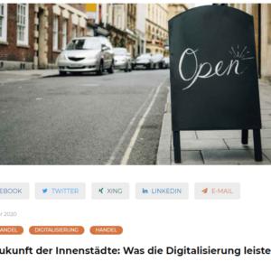 """Interview mit ROQQIO zum Thema """"Zukunft der Innenstadt"""