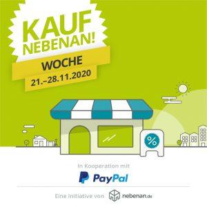 """""""Kauf nebenan!""""-Woche: nebenan.de gewinnt PayPal für eine Gutschein-Aktion zur Unterstützung von lokalen Geschäften"""