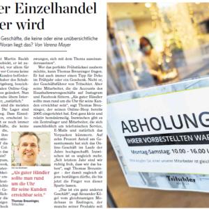 """Interview mit der Stuttgarter Zeitung zum Thema """"Digitalisierung des Einzelhandels"""